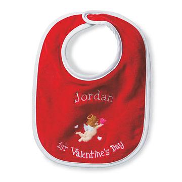 Babys First Valentines Bib