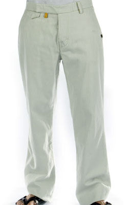 Culprit Herringbone Pants in Sail White